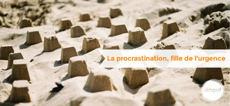 Procrastination fille de l'urgence